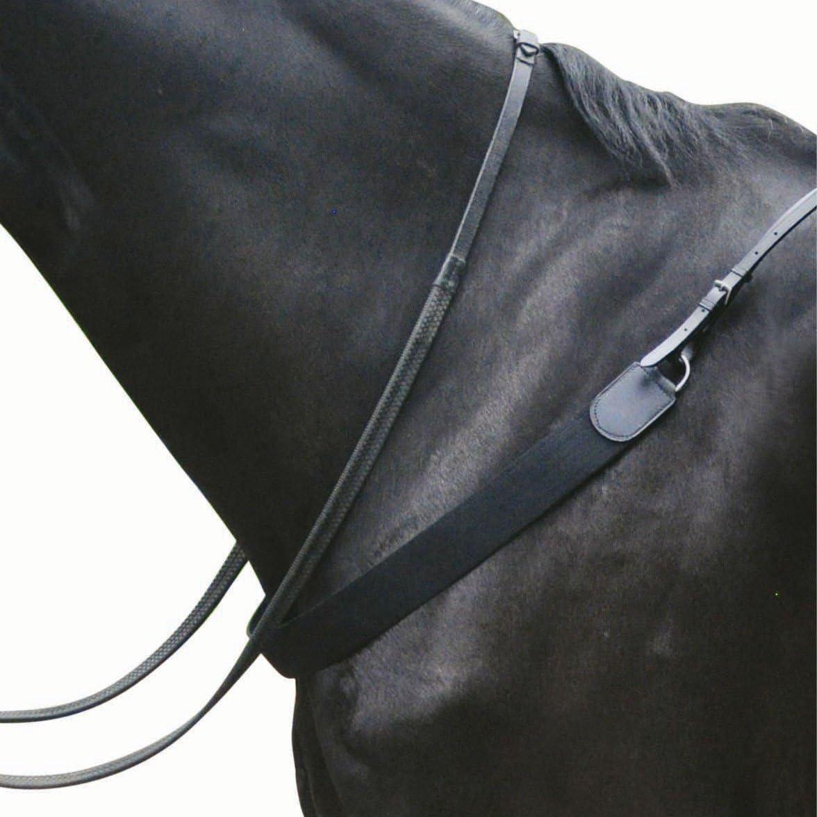 Kincade - Pechopetral elástico de cuero II para salto de obstáculos