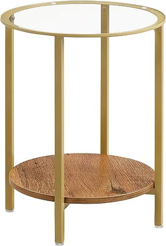 VASAGLE Round Side Table