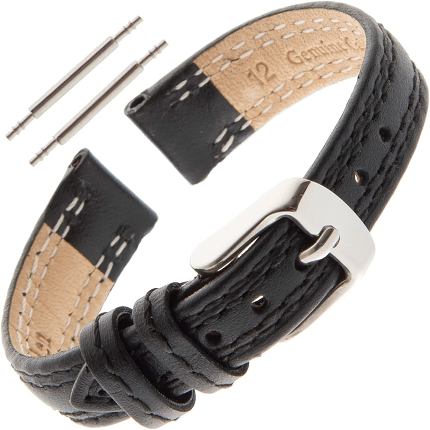 Gilden Ladies 12-14mm Light-Pad Double-Stitch Watch Band LPDS60