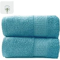 TenLeaf - Juego de Toallas de 3 Piezas, 1 Toalla de baño Grande de 70 x 140, 1 Toalla de Mano de 35 x 75, 1 paño de Lavado de 35 x 35 cm, 100% algodón, Suave y Muy Absorbente