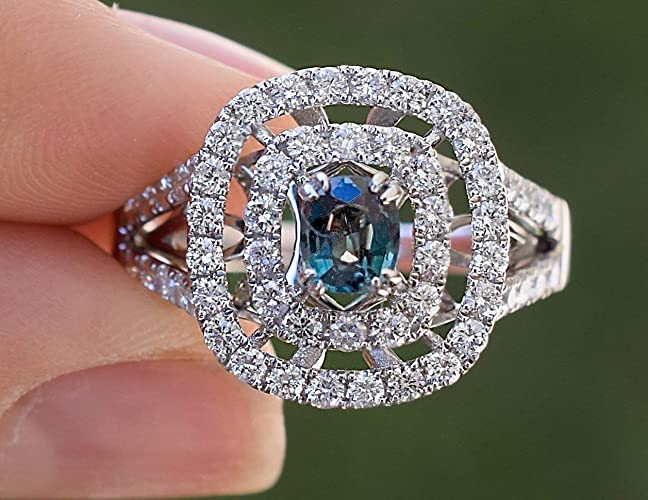 7f69fb105dd91 Amazon.com: Natural Alexandrite Diamond Ring 1.53 cttw Color Change ...