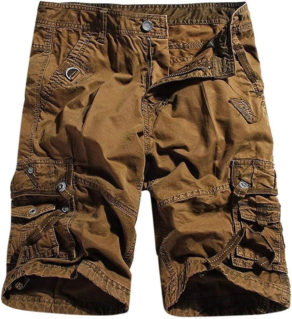Men Shorts Cotton Twill Army Cargo Multi Pocket Shorts
