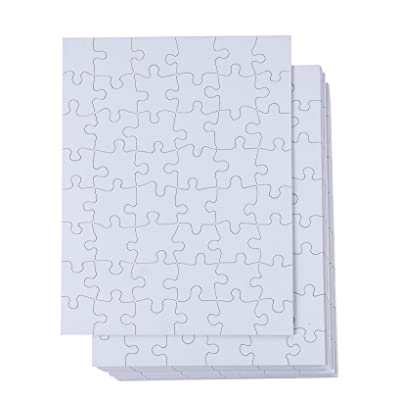 Blank Jigsaw Puzzle, 48 Pieces (8.5 x 11 in, 36 Pack): Toys & Games
