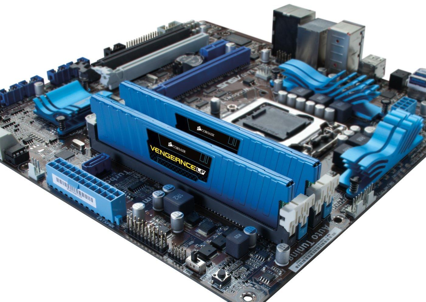 Corsair Vengeance LP Blue 16 GB (2x8 GB) DDR3 1600MHz (PC3 12800) Desktop Memory 1.5V