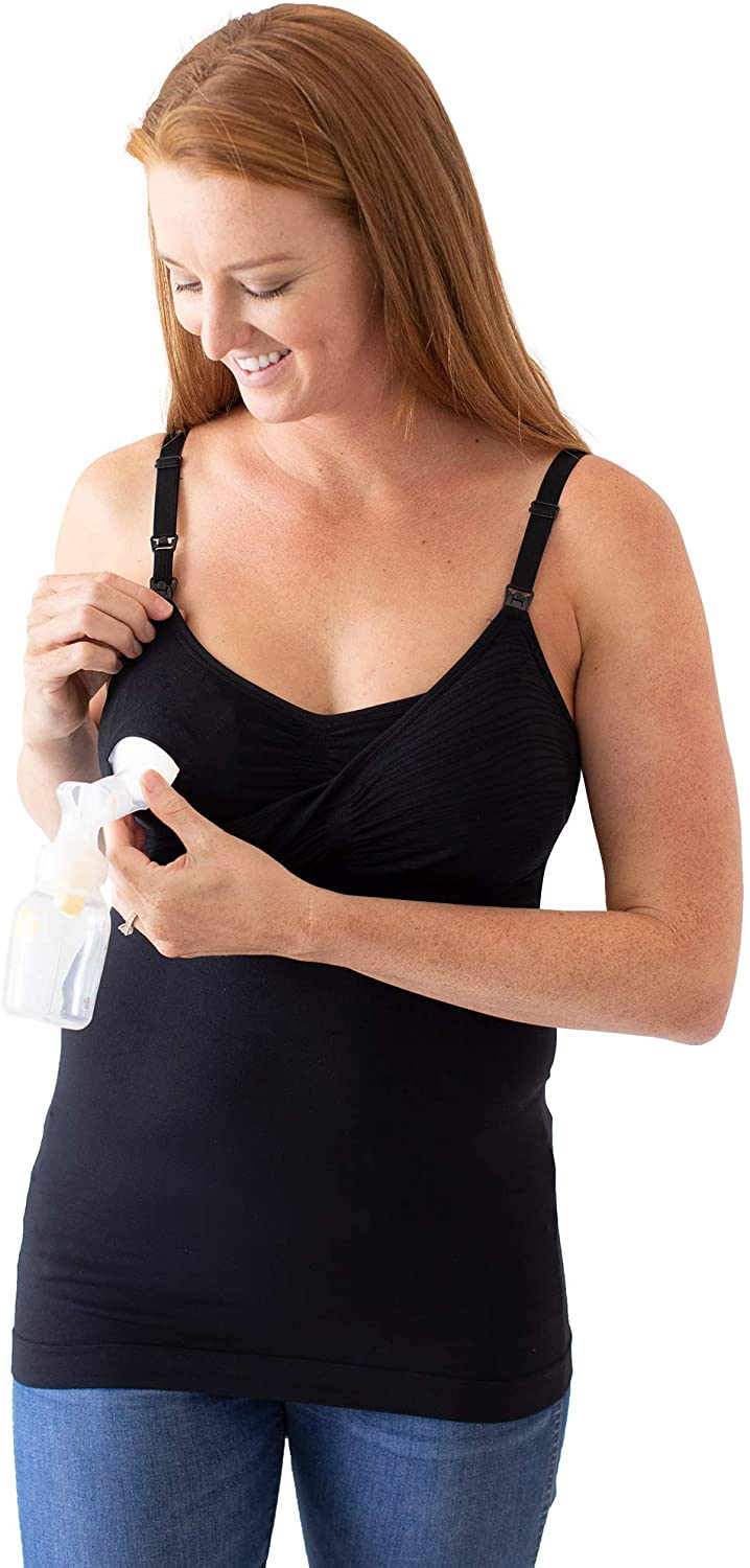 Patented EasyClip All-in-One Pumping /& Nursing Tank Top Kindred Bravely Sublime Hands Free Pumping Tank