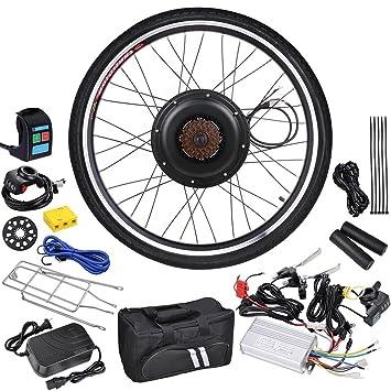 Lcd Black Wheel Electric Bicycle Motor Kit 48v 1kw