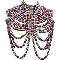 CCbodily Pearl Body Chain Bra - Fashion Shoulder Necklaces Bra Chain Body Jewelry