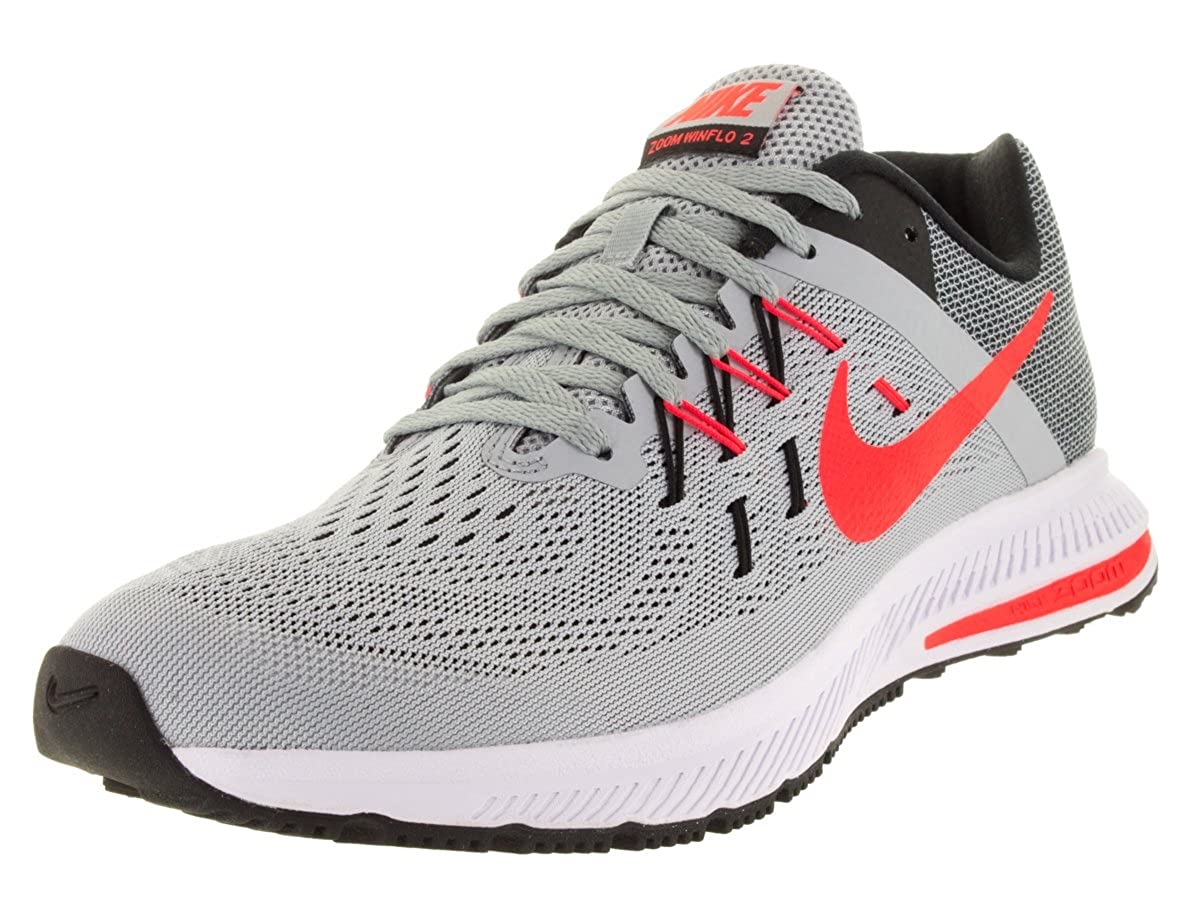 e1d60ac31e2f Nike Men s Zoom Winflo 2 WLF Grey Brght Crsn Blk White Running Shoe 8 Men  US  Buy Online at Low Prices in India - Amazon.in