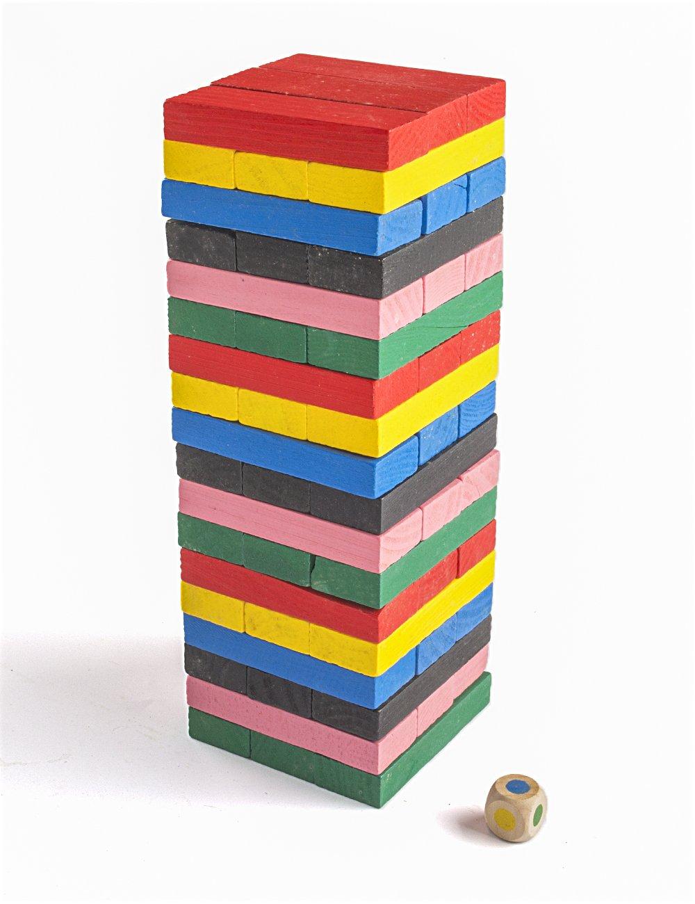 【メール便不可】 POPLAYカラフル木製TumberブロックDrinking Game B01KSTNS38 – 54ピース 54ピース Game B01KSTNS38, 米粉の手焼きドーナツ いなほや:9919070a --- dou13magadan.ru