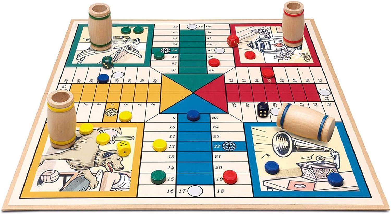 ONOGAL Parchis de Coleccion Vintage Clasico años 20 Tablero Fichas Dados y cubiletes 531c: Amazon.es: Juguetes y juegos