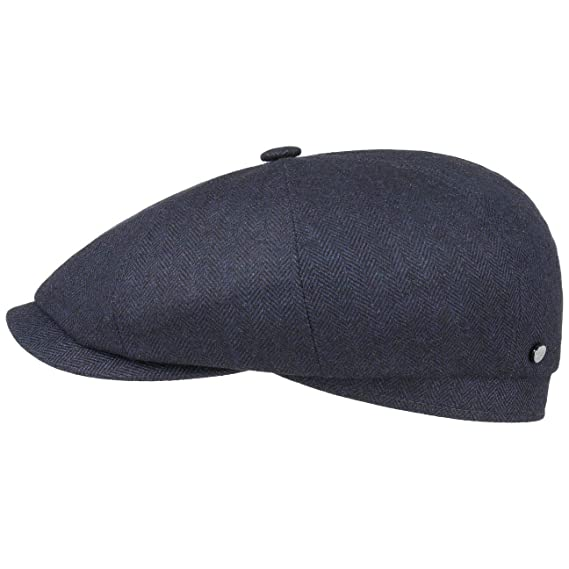 8301f28f Stetson Hatteras Cashmere Silk Flat Cap Men | Made in Germany Pull on hat  Virgin Wool with Peak, Lining, Lining Summer-Winter: Amazon.co.uk: Clothing