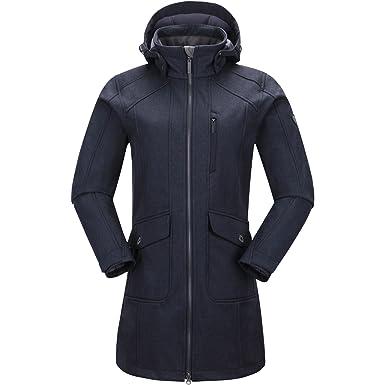 PINEA Damen Softshell Mantel MIMMI Farbe DUNKELBLAU in Größe