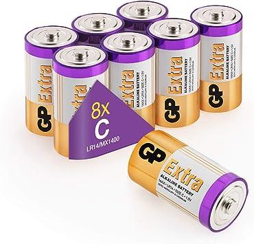 GP - Pack de 8 Pilas C alcalinas (LR14) 1.5V: Amazon.es: Electrónica