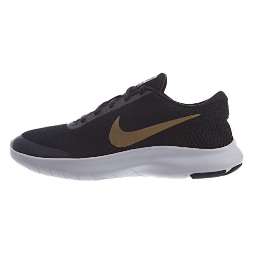 99475dc7690c Nike Women s Flex Experience RN 7 Black Metallic Gold Running Shoes ...