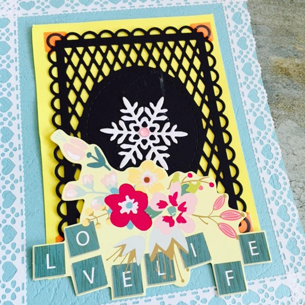 Dies Scrapbooking, Mikey Store Heart Xmas Cutting Dies DIY Stencils Scrapbooking Album Paper Card Craft (Square net) by Mikey Store Cutting Dies (Image #2)