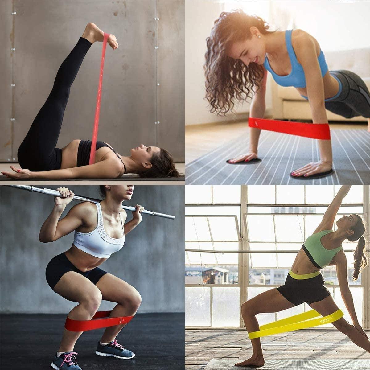 Musculation Pilates Fitness /Équipement dExercices pour la Kin/ésith/érapie Namgiy 5pcs Bandes /Élastiques de R/ésistance Yoga
