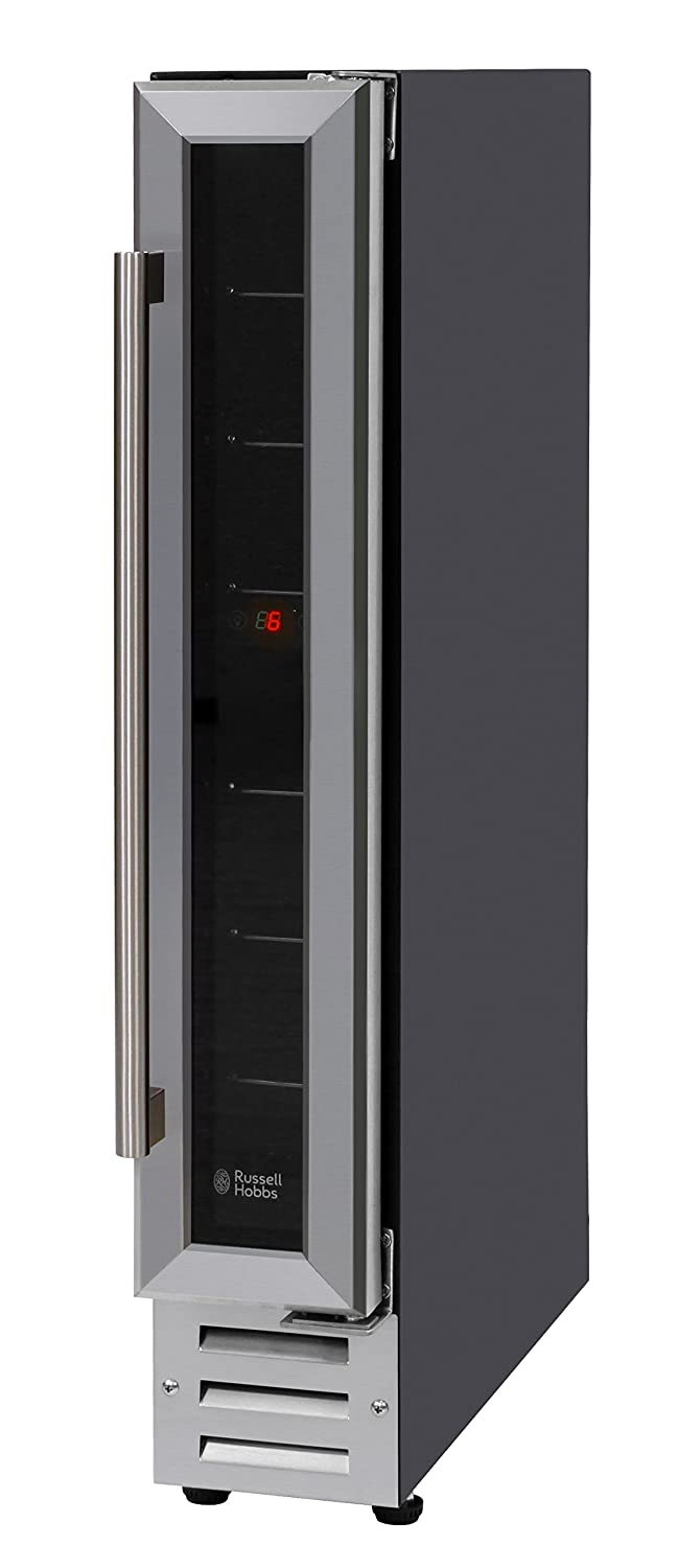 Russell Hobbs RHBI7WC1SS Built-in or Freestanding 7 Bottle Wine Cooler, Stainless Steel [Energy Class B]