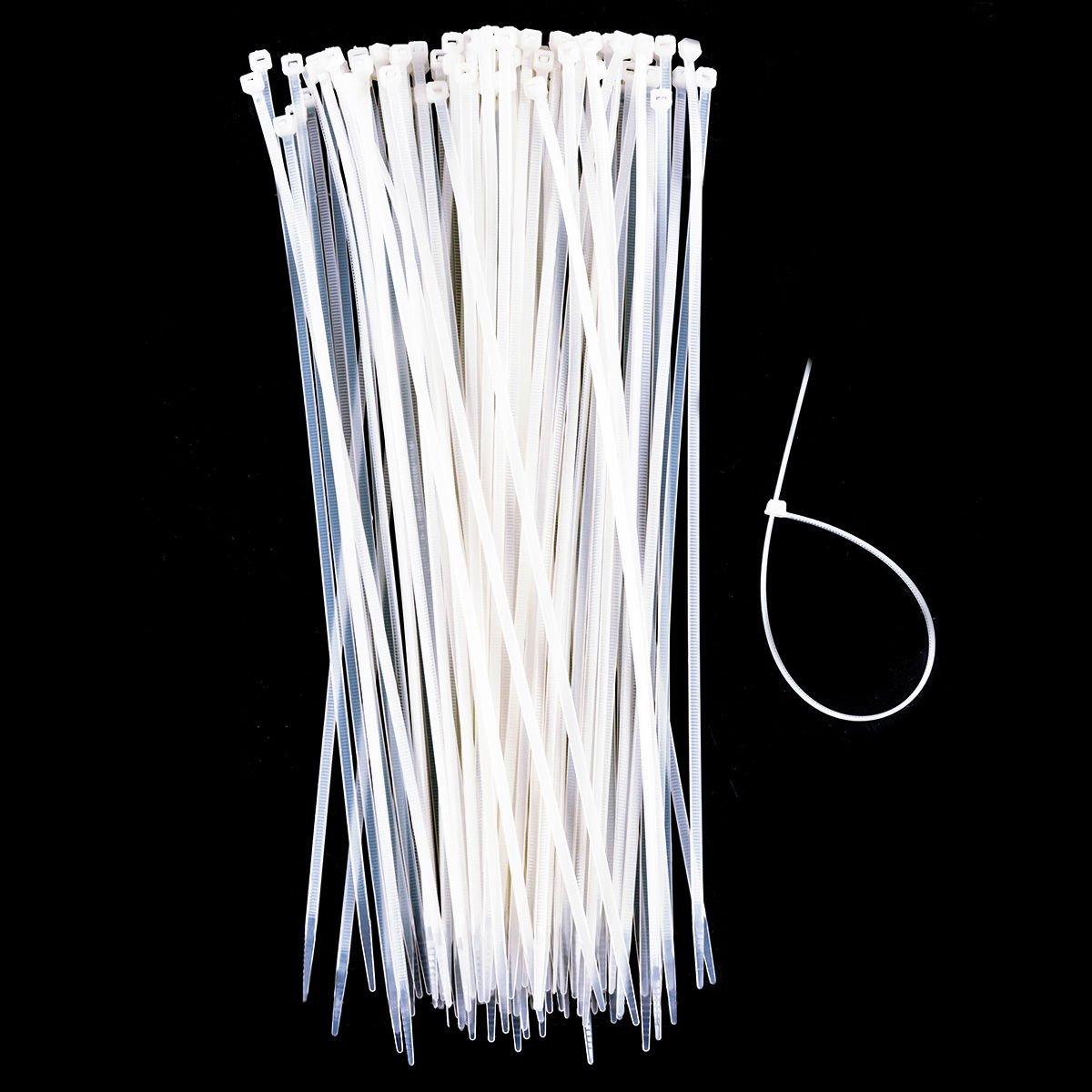 Toolsempire 1000 Pcs 12 inch Self Locking Cable Ties Nylon Zip Trim Wrap Network Cable for Home Office Garage Workshop (White)