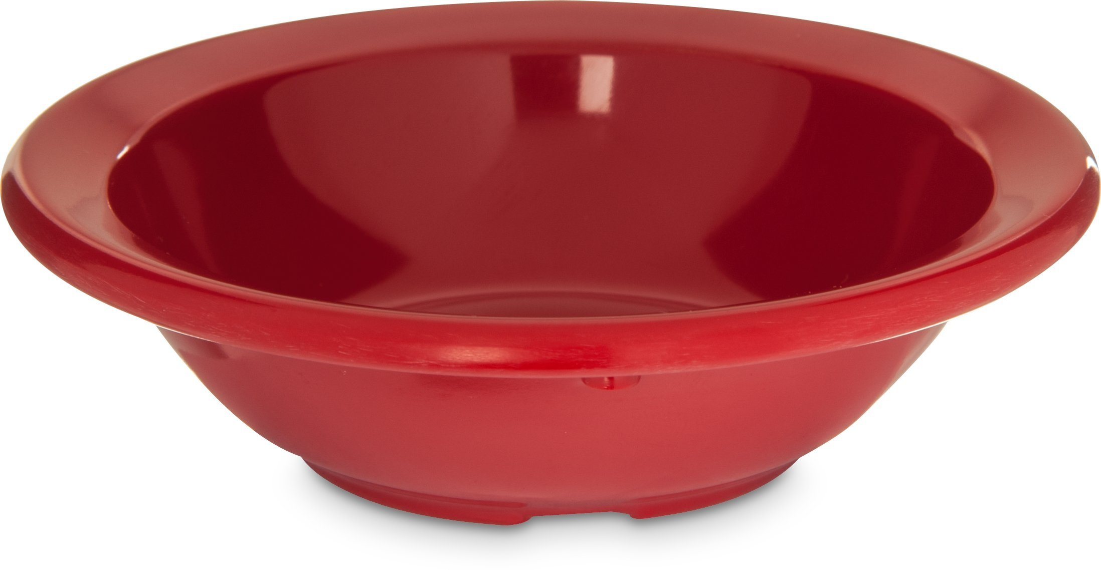 Carlisle KL80505 Kingline Melamine Rimmed Fruit Bowl, 4 fl. oz. Capacity, 4-19/32'' Dia. x 1.29'' H, Red (Case of 48)
