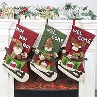 Calcetín de navidad 3 pcs,Medias de regalo