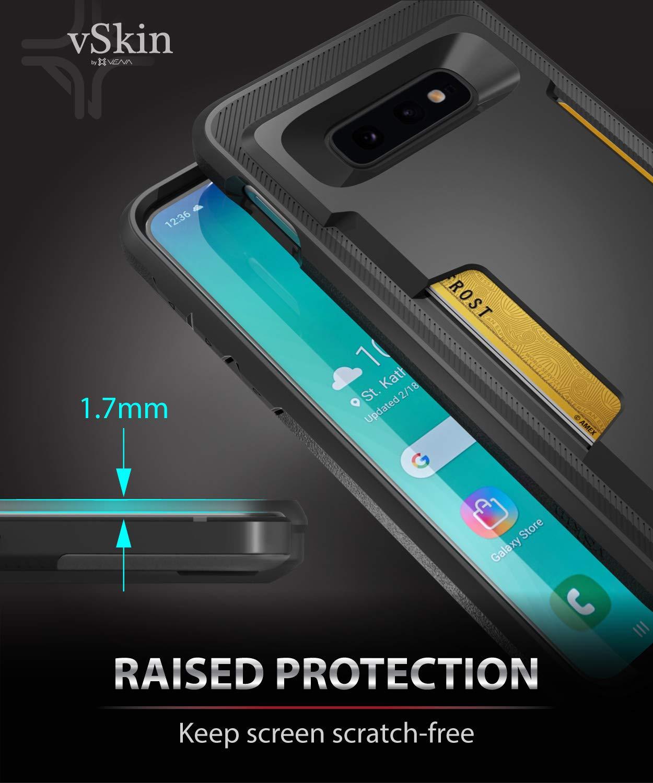 /étui de protection mince avec rangement de cartes de cr/édit en TPU Compatible avec Galaxy S10e Coque de protection Vena pour Galaxy S10e Noir