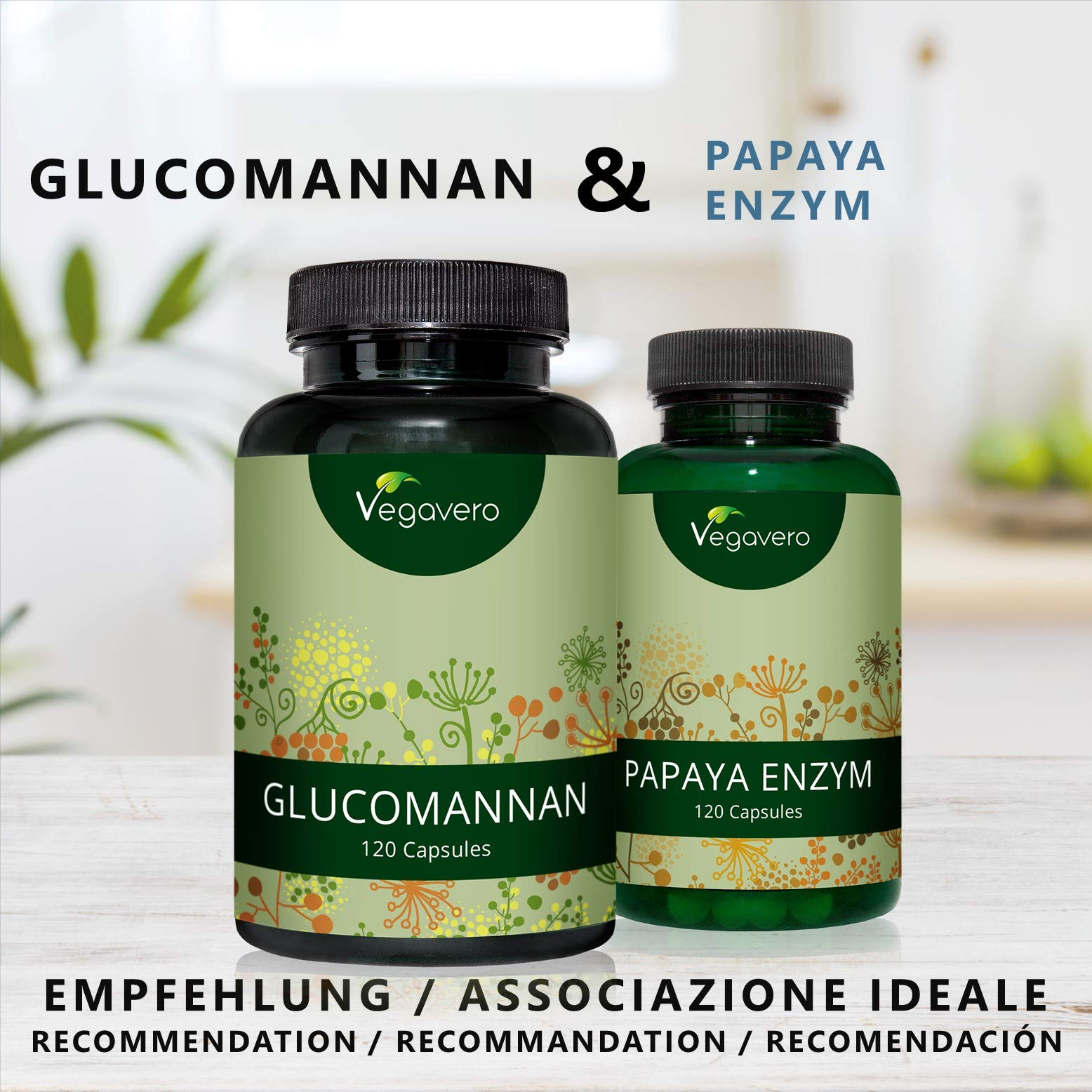 Glucomannan | 550 mg, 120 Capsules | Konjac Root Fibre | Weight Loss, Appetite Reduction, Better Digestion | Vegan & Vegetarian by Vegavero