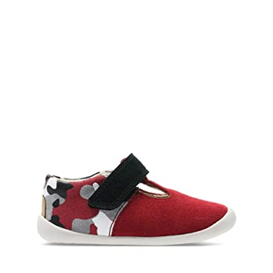 73307695d63 Clarks Roamer Go Toddler Suede Shoes in Red Combi Standard Fit Size 2