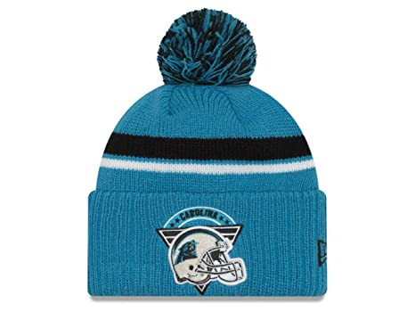 350f5028e Image Unavailable. Image not available for. Color  Genuine Merchandise  Carolina Panthers Knit Pom Beanie Hat Cap ...