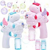 JOYIN 2 Unicorn Bubble Gun with 50 ML Bubble Solution Set for Kids Summer Toy, Party Favor, Bubble Summer Toy, Classroom…