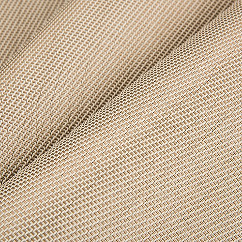 Artand Placemats, Heat-resistant Placemats Stain Resistant Anti-skid Washable PVC Table Mats Woven Vinyl Placemats, Set of 4 (Beige) by Artand (Image #1)