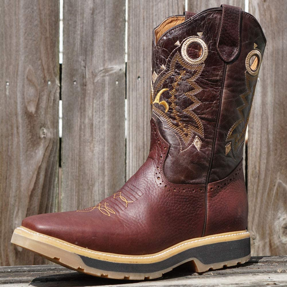 Soto Boots Mens Square Toe Work Boots H6002