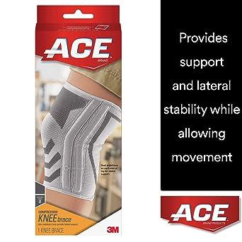 3d0b99cdc ACE - Rodillera de punto con estabilizadores laterales, extra grande, marca  de soporte y