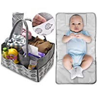 Diaper Caddy Nappy Organizer-FREE CHANGING MAT-Babyshower Gift Idea For Baby Or Pregnant New Mum Maternity Gift Idea…