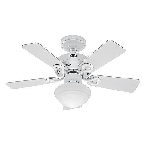 Hunter 20422 Bainbridge 36 Inch 5 Blade Ceiling Fan With Optional Light  Fixture