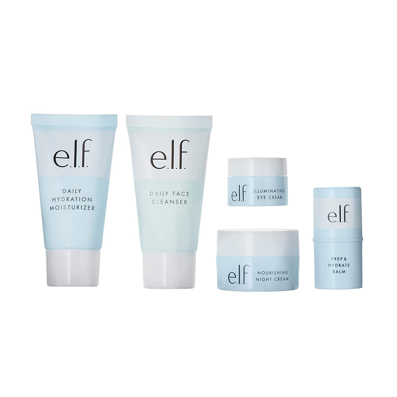 e.l.f. Cosmetics E.l.f. Jet Set Hydration Kit Travel Skin Care System, 5Piece Kit, 1.9 Fl Oz