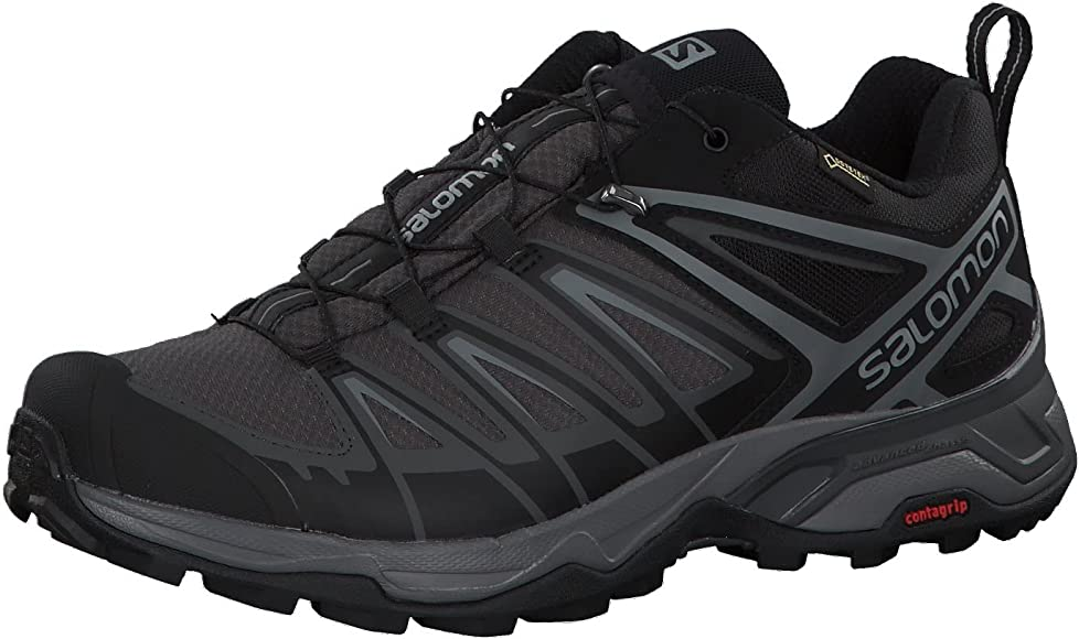 Salomon X Ultra 3 GTX, Zapatillas de Senderismo Hombre, Negro (Black/Magnet/Quiet Shade), 41 1/3 EU: Amazon.es: Zapatos y complementos