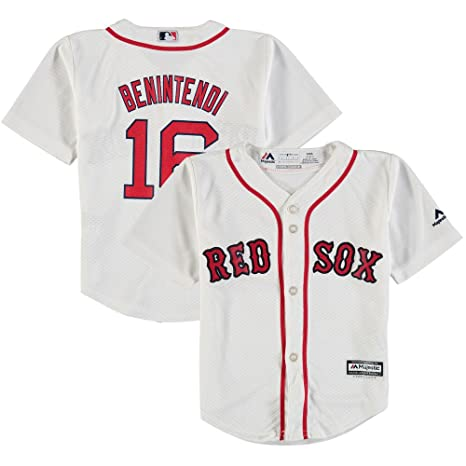 54da6a57e Andrew Benintendi Boston Red Sox Toddler Cool Base White Replica Jersey 3T