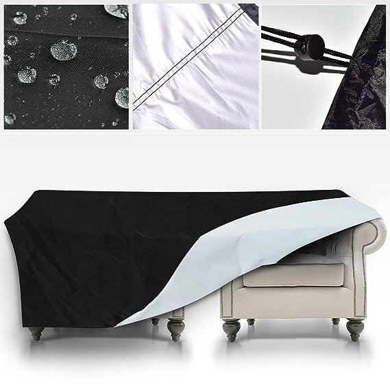 GreenEur Funda para Muebles de Exterior Cubierta Protectora de Polvo Agua Solar para Barbacoa sofá sillas de Exterior (242 x 162 x 100 CM)