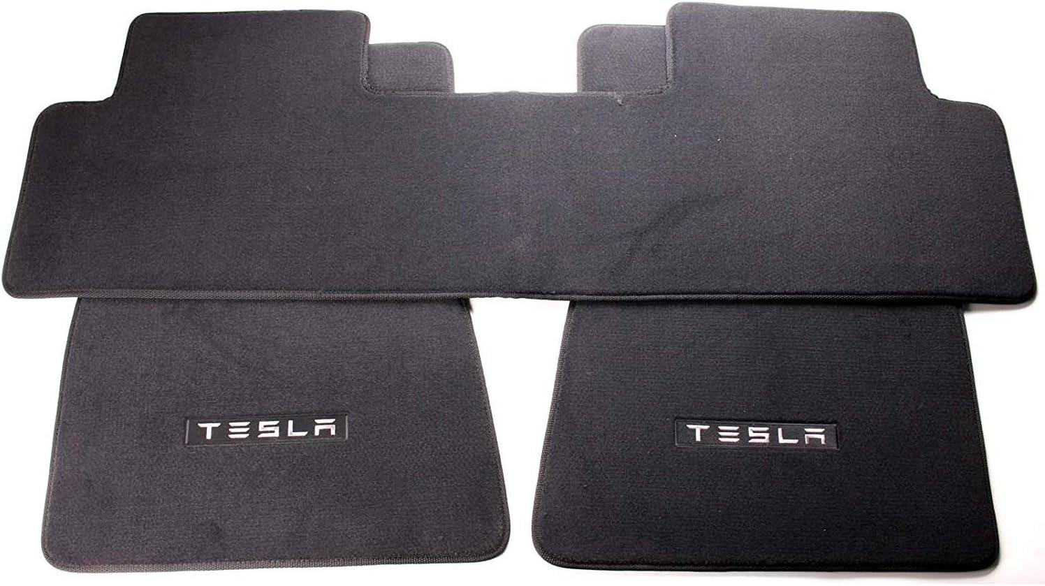 Premium 3-Piece Floor Mats for Tesla Model 3 with Heavy Duty Black Plush Quality Carpet