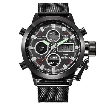 Nuevo Mens Reloj Deporte Militar ejército LED relojes cuarzo reloj de pulsera 2018 para hombre lujo ...