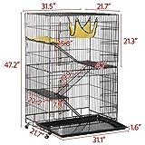 Yaheetech Folding Four Tiers Pet Cat Ferret Metal