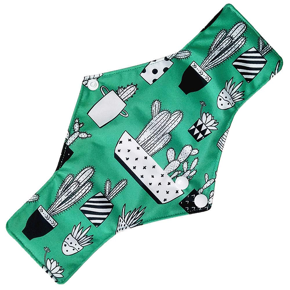 Women Menstrual Panty Pad Reusable Bamboo Cloth Washable Sanitary Napkin Towel Pad (F)