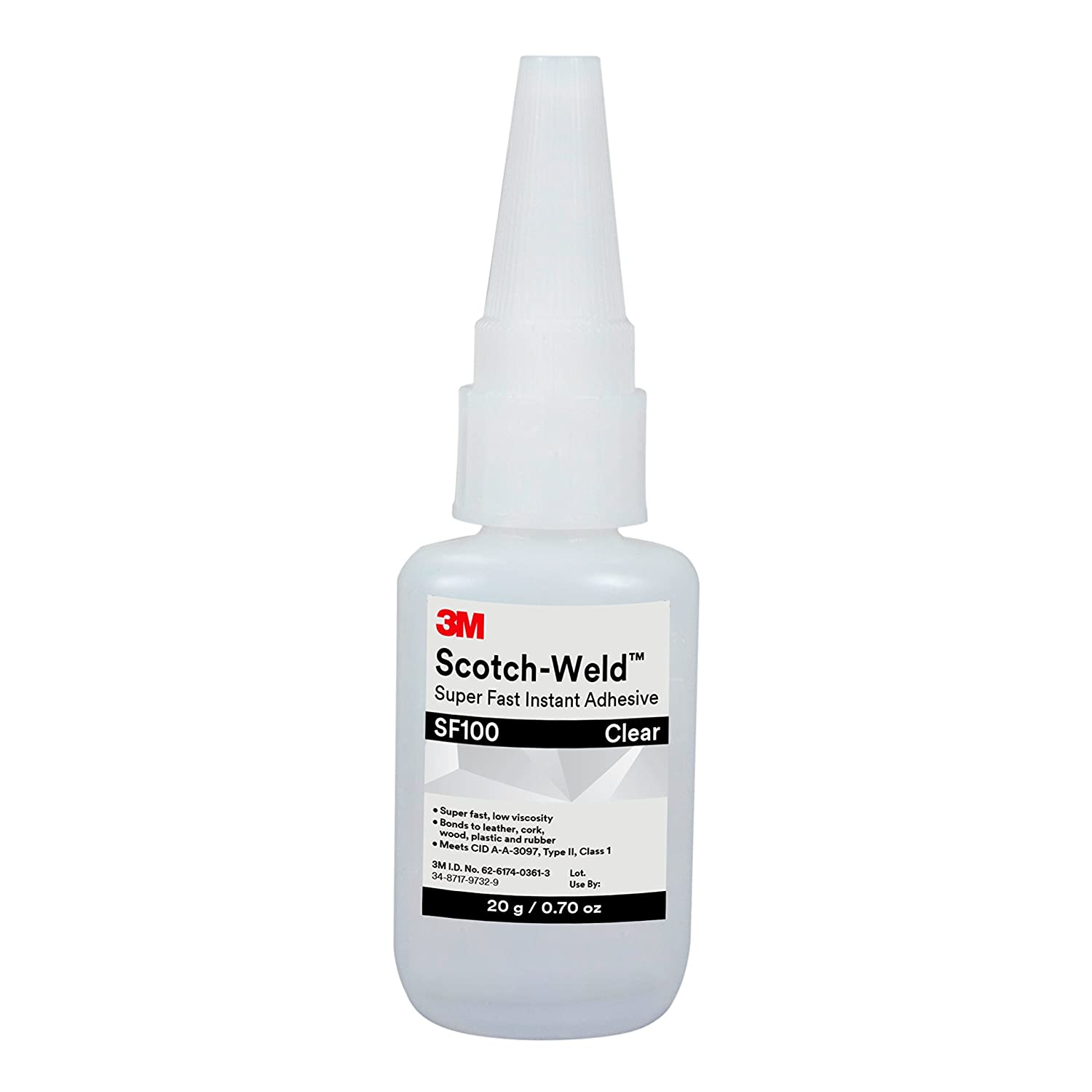 3M Scotch-Weld Super Fast Instant Adhesive SF100, Clear