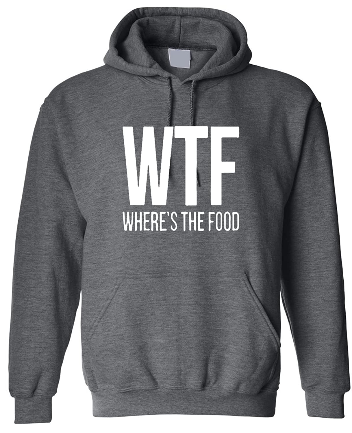 Adult WTF Wheres The Food Hoodie Hooded Sweater