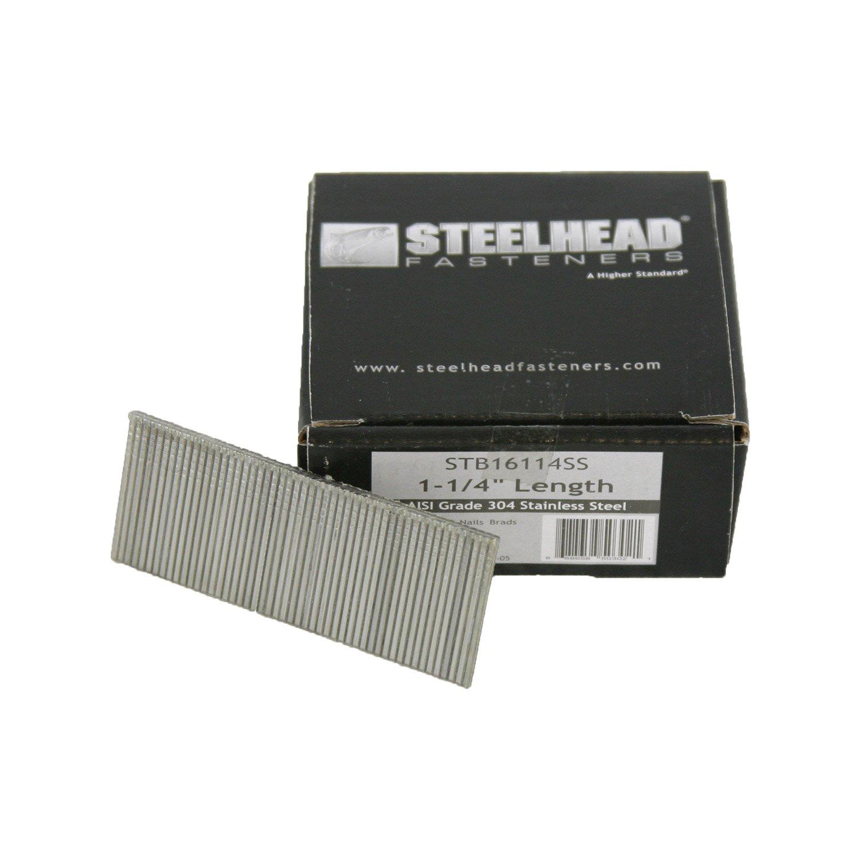 Steelhead Stainless Steel Nail Brad 16ga 1-1/4'' 2500 ct