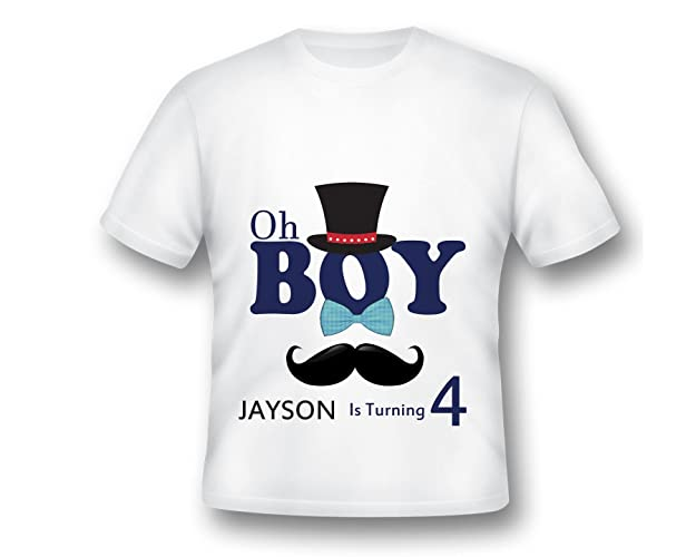 Amazon Little Man Birthdayt Shirt Oh Boy Birthday Mustache T Gentleman Party Gift Handmade