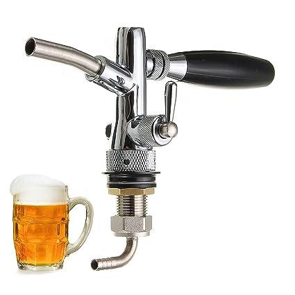 wuchance Dispensador de cerveza artesanal de barril de cerveza de barril ajustable con controlador de flujo