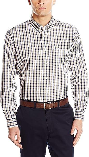 Dockers Camisa de manga larga Button-Front de cuadros ...
