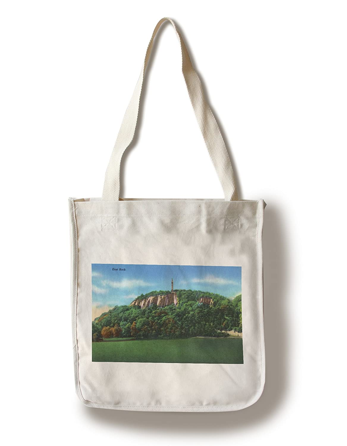 New Haven、Connecticut – View of East Rock Canvas Tote Bag LANT-19113-TT B0184105A6  Canvas Tote Bag