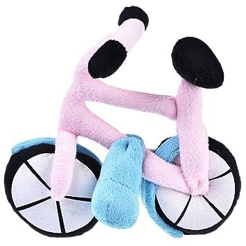 Yunt juguete para animales domésticos Mignon bicicleta de peluche para perro/gato